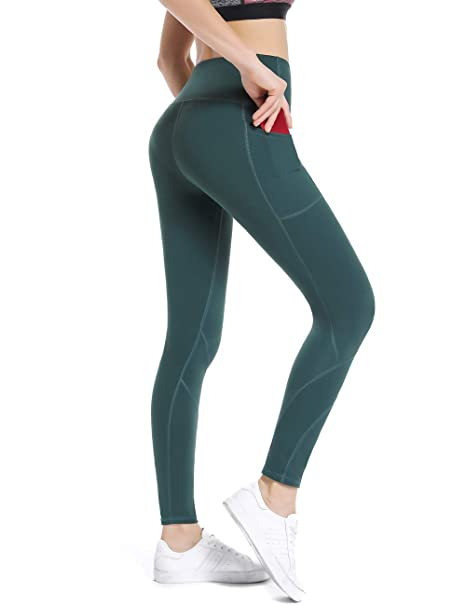 2e4ae841e22692 ALONG FIT High Waist Yoga Pants with Pockets for Women Tummy Control Yoga  Leggings for Workout