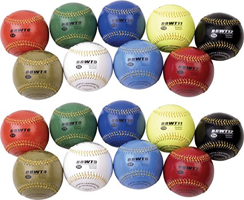 Champion Sports Weighted Training Baseball Set with Nylon Carrying Case 18(Count)) by Champion Sports