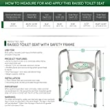 PCP Raised Toilet Seat and Safety Frame (Two-in-One),...