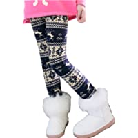 Uncle Lee Mallas Leggings Pantalones Térmicos para Niñas Invierno Forro Polar Gruesos