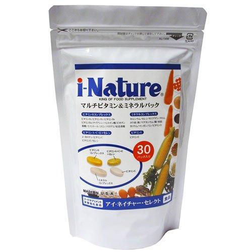 i-Nature アイネイチャーセレクト (4粒入×30パック) マルチビタミン&ミネラル B002SEDIAA