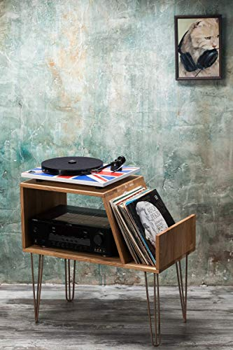 Vinyl Record storage, Record Player Cabinet, Media Console, Record player stand, Hairpin legs