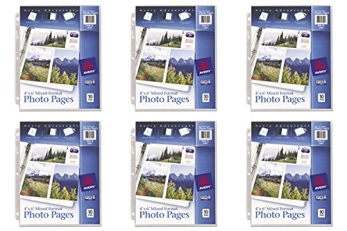 Avery Mixed Format Photo Pages, Acid Free, Pack of 10 (13401), 6 Packs