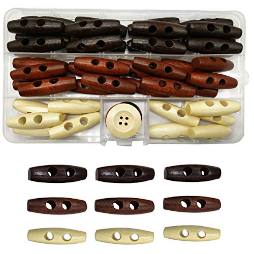 IDOXE Wood Horn Toggle Buttons 1-1/2