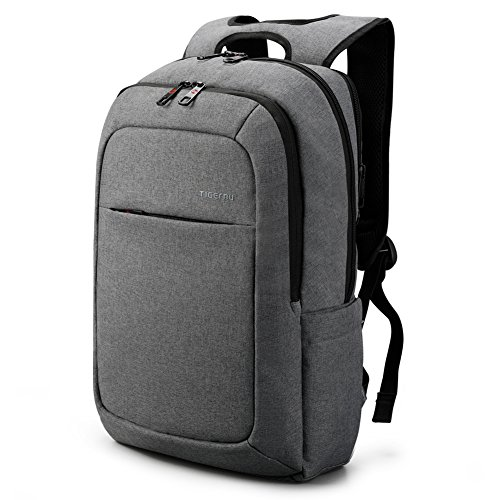 Tigernu Slim Business Laptop Backpacks Anti Thief Tear Water Resistant Travel Bag fits up to 15 15.6 Inch Computer Backpack in Gray Dark Grey