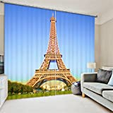 Sproud London Bus Digital Print 3D Blackout Curtains For Living Room Bedding Room Drapes Cotinas Para Sala-260Cmx300Cm