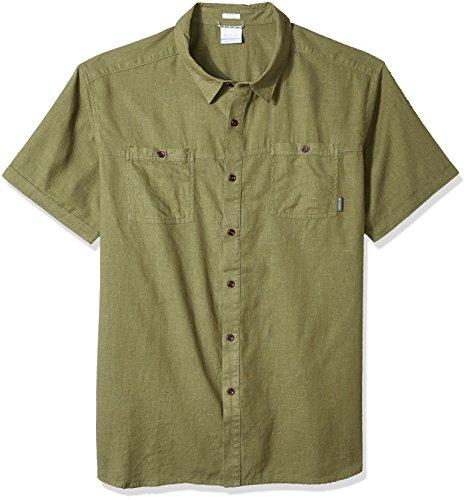 (Columbia Men's Southridge Big & Tall Short Sleeve Shirt, Mosstone, X-Large)