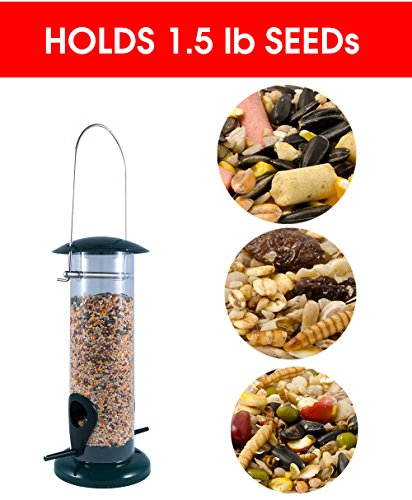Weather-Proof-Anti-Bacterial-Bird-Feeder-with-UV-Sun-proof-Anti-Bacterial-Coating-Durable-and-Disassembles-for-Quick-Easy-Cleaning