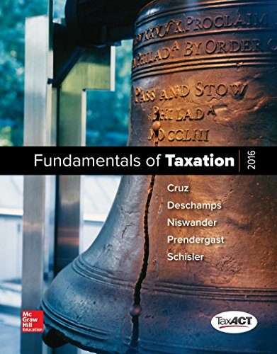 MP Fundamentals of Taxation 2016 Edition with TaxACT CD-Rom