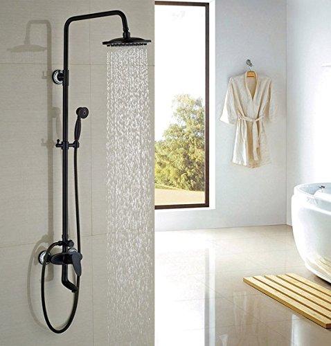 GOWE Luxury Oil Rubbed Broze Shower Sets W/Hand Shower Round Shower Head Single Handle Mixer Faucet 0