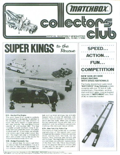 Matchbox Collectors Club Quarterly V15n1 1980