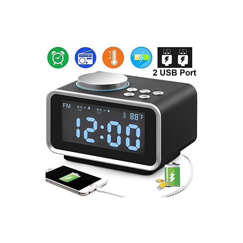 "Duperym Digital Alarm Clock Radio - 3.5"""