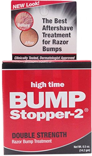 High Time Bump Stopper-2 Double Strength Razor Bump Treatment, 0.5 oz (Pack of 5) by High Time