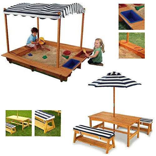 Cheap Sandboxes U0026 Accessories Kids Sandbox With Canopy Tablebench With  Cushions Umbrella Set In Sc 1 St Patio Designs