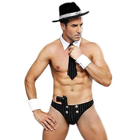 Fxwj Disfraz Hombre Sexy Ropa Interior policía Officier 5PCS ...