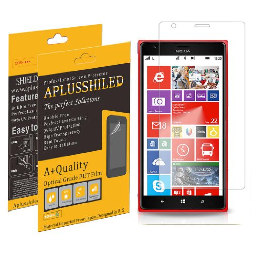 Aplusshield 2014 Premium Ultra Clear Screen Protector Guard for Nokia Lumia 1520 [6 pack] No Bubble+Lifetime Warranty+Retail Package