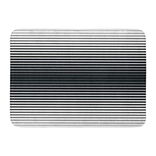 YGUII Doormats Bath Rugs Outdoor/Indoor Door Mat Raster Gradient Black Lines Pattern and Stripes Parallel from Thick to Thin Geometric Bathroom Decor Rug Bath Mat 16X23.6in (40x60cm)
