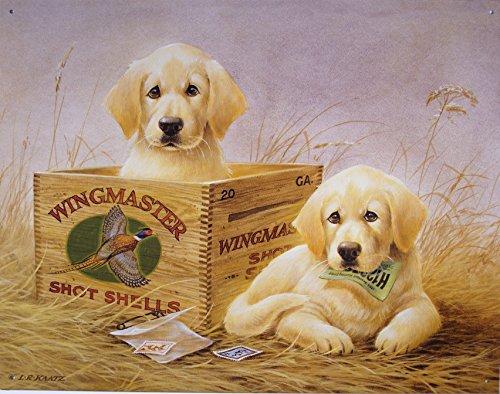 Wingmaster Shot Shells Hunting Dogs Tin Sign 13 x 16in
