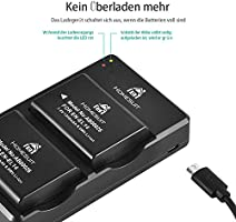 USB-Ladegerät für Akku Nikon Typ EN-EL14A 5V 1A  Schwarz