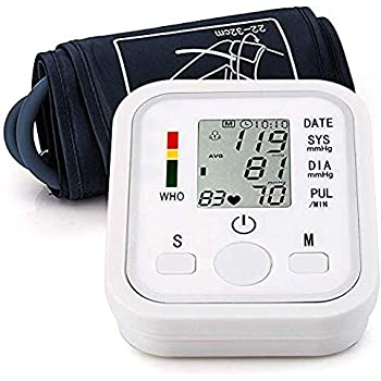Automatic Arm Blood Pressure Monitor Voice Broadcast High Blood Pressure Monitors Portable LCD Screen Irregular Heartbeat Monitor with Adjustable Cuff and ...