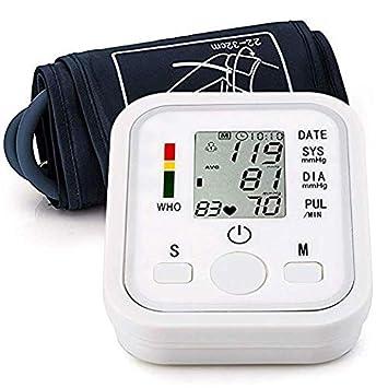 Automatic Arm Blood Pressure Monitor Voice Broadcast High Blood Pressure Monitors Portable LCD Screen Irregular Heartbeat
