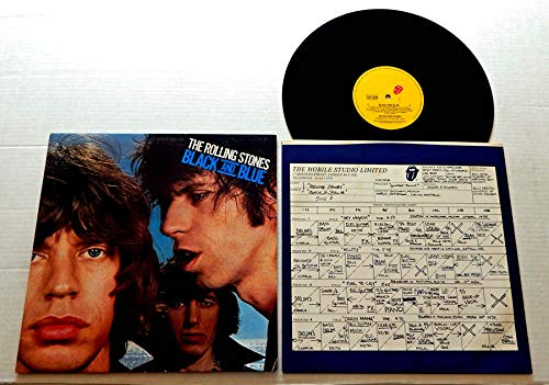 The Rolling Stones BLACK AND BLUE - Rolling Stone Records 1976 - USED Vinyl Record - 1979 Reissue Pressing CUN 79104 IMPORTED FROM AUSTRALIA - Hand Of Fate - Hot Stuff - Fool To Cry - Memory Motel