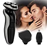Pretfarver Electric Razor for Men Shavers Beard Trimmer Nose Hair Trimmer Cordless Hair/Body Grooming Kit Rechargeable