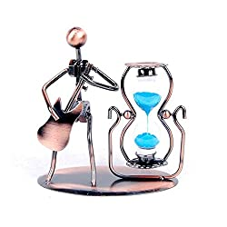 Guitar Metal jewelry crafts creative home decorations ornaments Iron Music Man Sandglass timer
