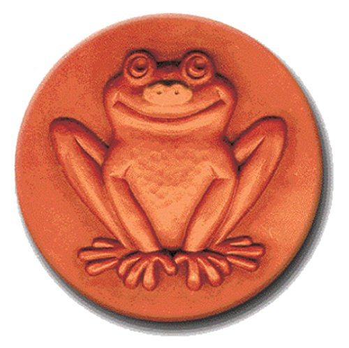 RYCRAFT 2 inch Round Cookie Stamp with Handle & Recipe Booklet-FRIENDLY FROG