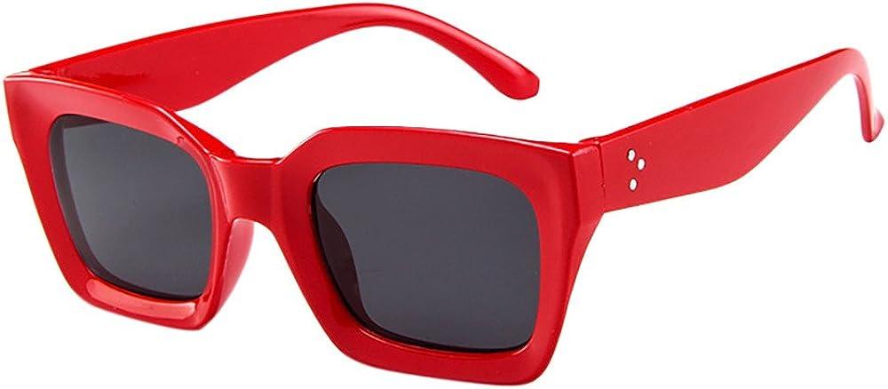 JYS Retro Square Mod Thick Frame Sunglasses Round Lens Clout Goggles UV 400 Protection Polarized Sports Sunglasses