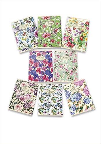 Packung mit 10 Maxi-Heften 02298850C Natur Flower.