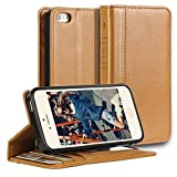 iPhone 5s Case,iPhone SE Case,iPhone 5 Case,[2PCS HD Screen Protectors]by Ailun,[Book Style Case]Wallet Case,Card Holder Case,Stand Feature,Flip Cover Case-[Brown]