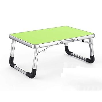 Ordenador portátil Cama con Mesa Plegable Mesa pequeña Mesa Perezosa Mesa de Estudio del Dormitorio para Estudiantes (Color : Green): Amazon.es: Electrónica