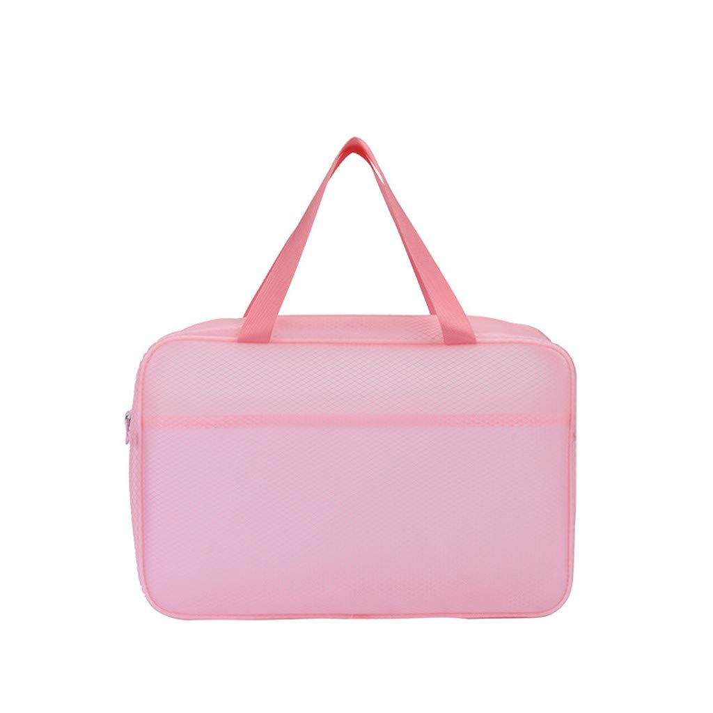 Makeupstory Beach Bags for Women,Purses Crossbody,Men's and Women's Rule Travel Bags,Wash Bags, Dry and Wet Bags, Separate Bags Pink by Makeupstory (Image #1)