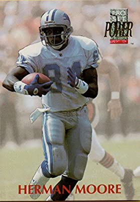 Football NFL 1992 Power #287 Herman Moore Lions