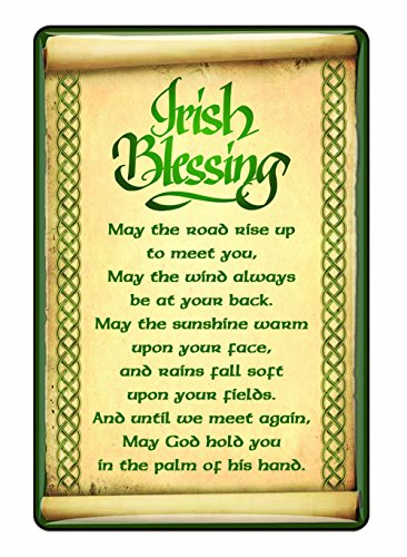Ireland Epoxy Magnet With Irish Blessing With A Celtic boarder Design ()