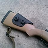 "Adjustable Kydex Cheek Rest Riser .125"" - Sniper Edition: Remington 700 HS Precision & Savage Accustock"