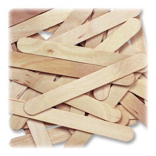 "Natural Wood Jumbo Craft Sticks, 6"" x 3/4"", 500/Box"