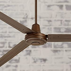 "72"" Turbina Industrial Outdoor Ceiling Fan with Remote Large Oil Rubbed Bronze Damp Rated for Patio Porch - Casa Vieja"