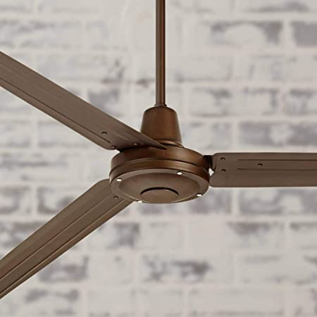 72 Turbina Industrial Outdoor Ceiling Fan with Remote Large Oil Rubbed Bronze Damp Rated for Patio Porch – Casa Vieja