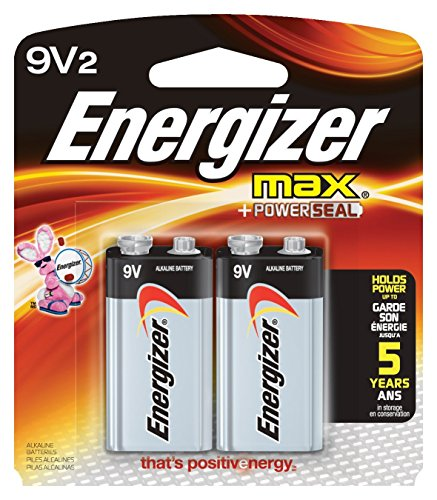 (Energizer 9 Volt Batteries (2 Count), Long-Lasting Power Source for Smoke Alarms, Flashlights, Cameras, 2-Pack 9 V Batteries)