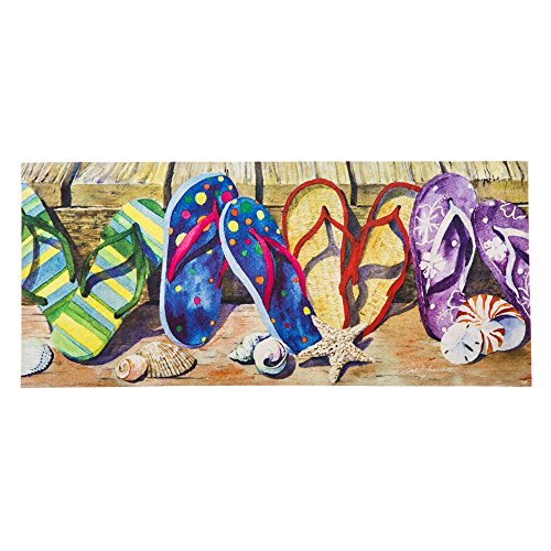 (Evergreen Sassafras Switch Mat, 10x22 Inches, Flip Flop)