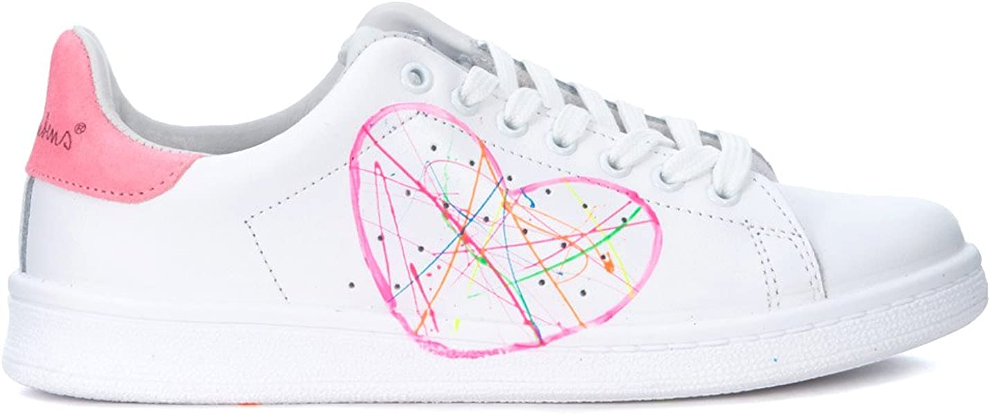 Bianco Fucsia Cuore Nira Rubens Sneaker 37Schuhe KlcTJF13