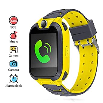 Kids Smartwatch Phone,Children's Smart Watch with Dial Call Camera Music Play Calculators Alarm Android IOS Electronic Smartwatch for Back To School Children Boys Girls Christmas Birthday Gifts (yellow)