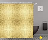 iPrint Shower Curtains 2.0,Background With Gold Seamless Pattern In Islamic Style ,Waterproof Bathroom Shower Curtain Set with Hooks,Updated version,Durable,Stylish,Decorative,Unique,Cool,Fun,Funky