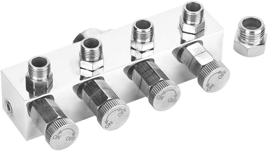 Multi-Function Adjustable Aluminium Air Hose Splitter Airbrush Adapter Fitting Accessories Air Hose Splitter Aluminium T1-4 1
