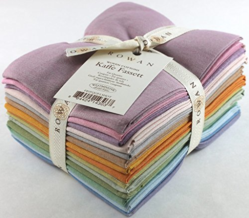 Kaffe Fassett SHOT COTTONS WOVENS LIGHT Fat Quarters 15 Precut Cotton Fabric Quilting FQs Assortment Westminster Fibers (Quarters Fat Woven)