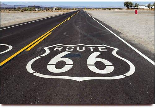 Route 66 Map Aimant Souvenir Aimant Frigo