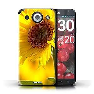 Kobalt® protector duro de nuevo caso / cubierta para el LG Optimus G Pro | Flor amarilla Diseño | Floral flores jardín colección
