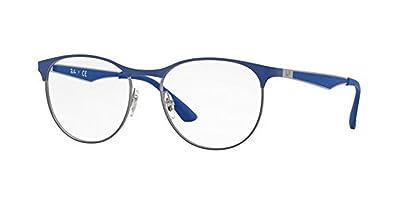 694adf1b87c Amazon.com  Ray-Ban RX6365 Eyeglasses Gunmetal Top on Elecrtic Blue ...